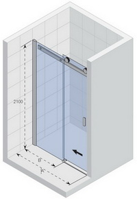 Posuvné sprchové dveře do niky