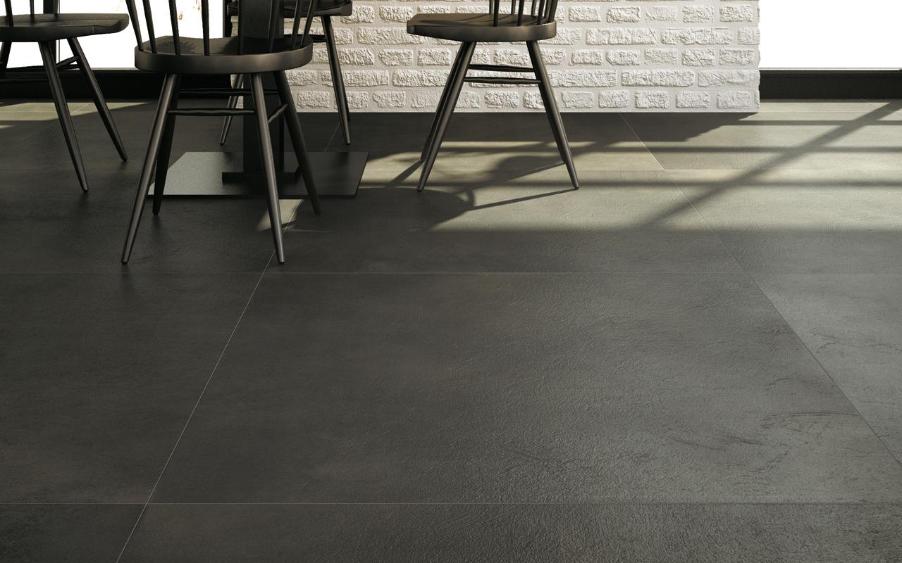 Amber floor tiles